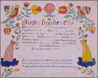 Keno Inaugural Auction May 1-2, 2010 - Daniel Peter York County Pennsylvania fraktur brought $3808