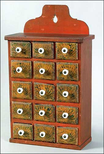 Signs of Spring at Pook and Pook - Nineteenth century Lancaster County seed box which sold for $23,700