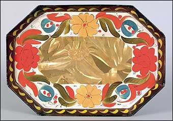Signs of Spring at Pook and Pook - Decorated toleware tray which sold for $42,660