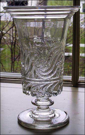 Glass Manufacturing: Pittsburgh, PA - Blown Three Mold Celery Vase Pittsburgh from the Bakewell, Page & Bakewell Glass Works, 1820-1840