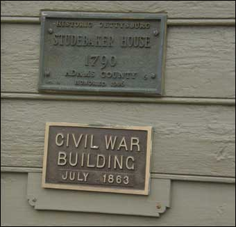 East Berlin, PA Tour - The plaque for Studebaker house