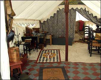 Washingtonburg, PA - An officer's tent set up at Washingtonburg