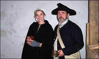 Wentz Farmstead Candlelight Tour - Reenactors on the Candlelight Tour