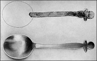 Working with Pewter - Joseph Copeland pewter spoon unearthed at Jamestown Virginia is the oldest dated piece of American pewter in existence