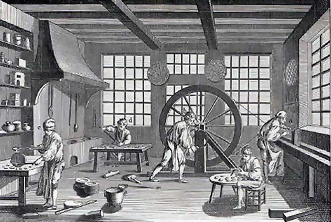 Working with Pewter - 18th Century Pewter Shop